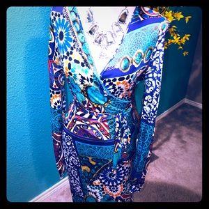 NWOT Blumarine wrap dress IT 44